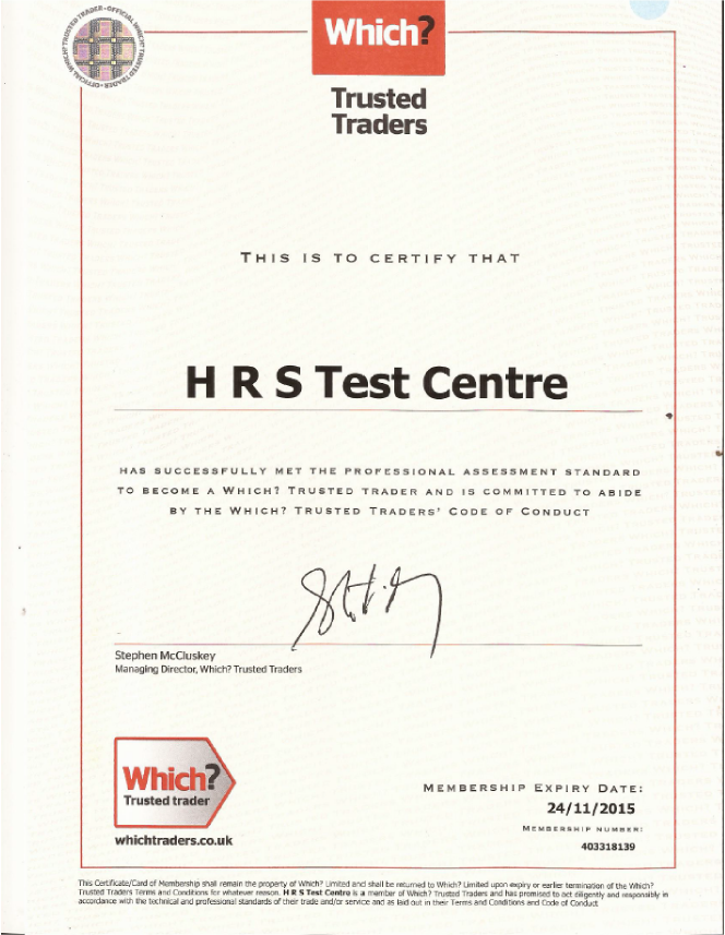 HRS is a Trusted Trader